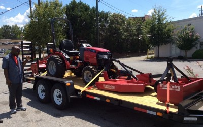 Tractor and Implements Donated to Ricks Institute