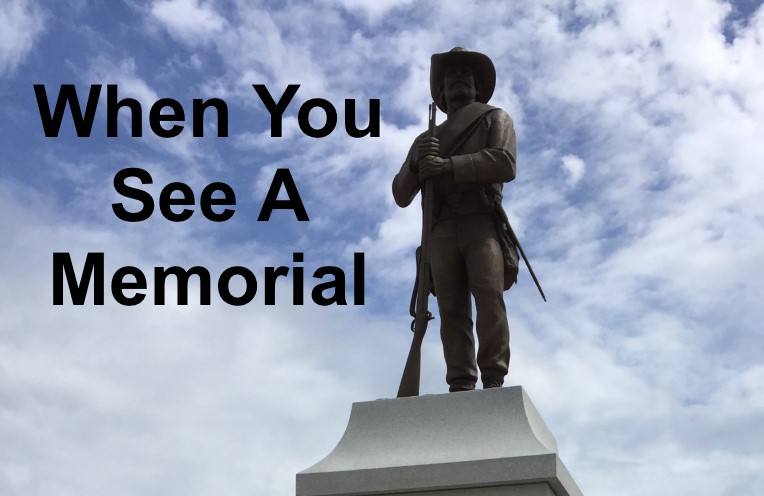 When You See a Memorial