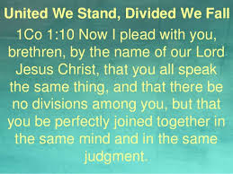 Have Courage: United We Stand, Divided We Fall