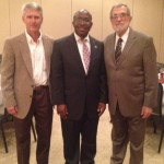 Dr. Michael Helms with Dr. Olu Menjah and Dr. John Mark Carpenter.  Dr. Carpenter is the founding President of the Liberian Baptist Theological Seminary, career missionary to Liberia, and he baptized Olu.