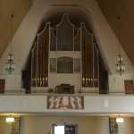 These are the pipes of the organ at The Church of Rovaniemi in Finland.