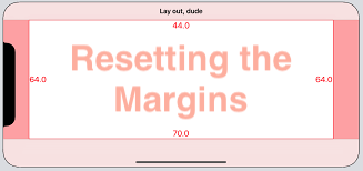 Resetting The Margins